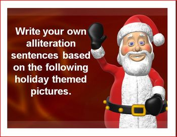 Alliteration Santa Powerpoint