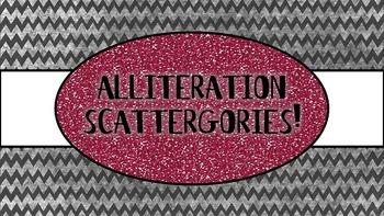 Alliteration Scattergories {A Fun Common Core Activity}