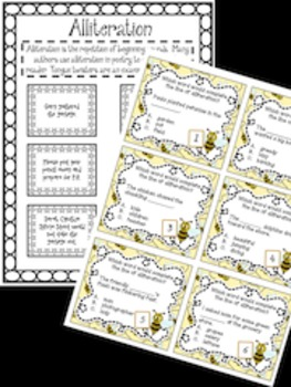Poetry:  Alliteration Task Cards