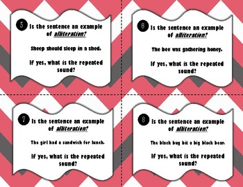 Alliteration Task Cards or Scoot!