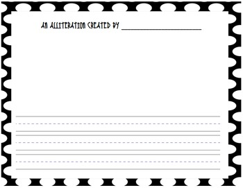 Alliteration/Tongue Twister Writing and Poster! *Freebie!*
