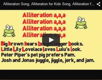 Alliteration Video & Activities Bundle