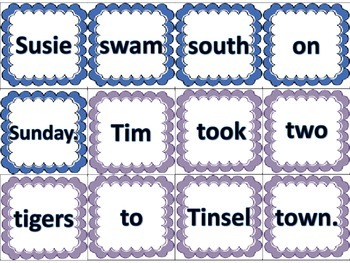 Alliteration Word Word Center Daily 5 Reading and Writing Activity