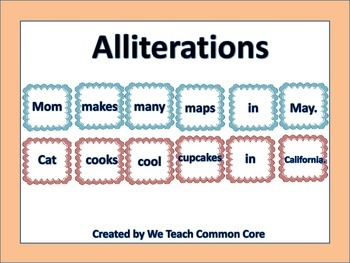 Alliteration Word Word Center Daily 5 Reading and Writing