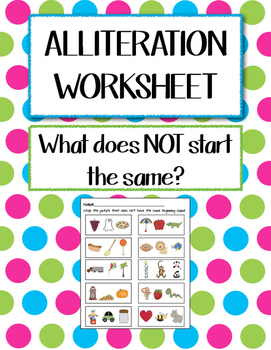 Alliteration Worksheet