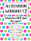 Alliteration Worksheet 2