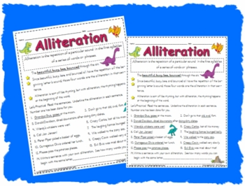 alliteration worksheet printable activity page by workaholic nbct. Black Bedroom Furniture Sets. Home Design Ideas