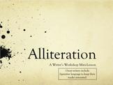 Alliteration: Writer's Workshop Mini-Lesson
