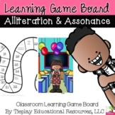 Alliteration and Assonance Language Arts Learning Game Board