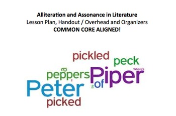Alliteration and Assonance Lesson Plan, Activity, Handout