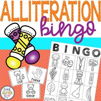 Alliteration and Beginning Sound BINGO