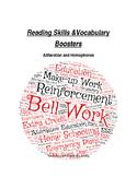 Alliteration and Homophones Worksheet