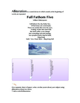 Alliteration and Onomatopoeia in Poetry:  Full Fathom Five,  Maestro