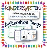 Alliteration bingo; pre-reading initial sound game for Kin