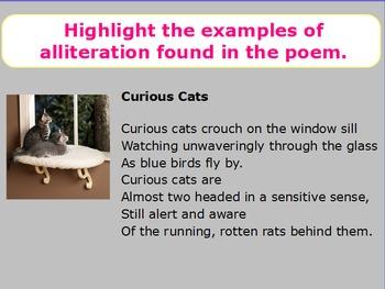 Alliteration in Poetry Mini-Lesson (ActivInspire)
