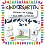 Alliteration phonic games for Kindergarten; initial letter