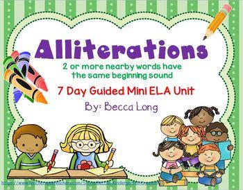 Alliterations - 7 Day mini ELA Unit