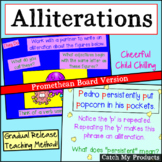 Alliteration Activities Lesson for Promethean Board Use