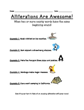 Alliterations are Awesome