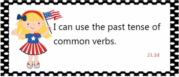 Alll common core standards posters for second grade - red, white, and blue