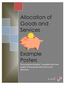 Allocation of Goods and Services Posters