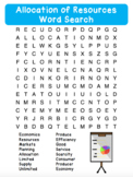 Allocation of Resources - Economics - Word Search