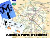 Allons à Paris Webquest - Experiential Technology Activity/Great Sub Plan!