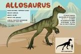 Allosaurus - Dinosaur Poster & Handout