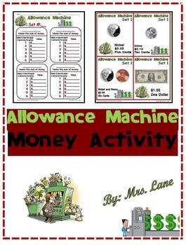 Allowance Machine Money Activity