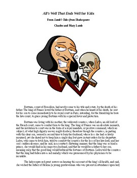 Shakespeare's All's Well That Ends Well for Kids
