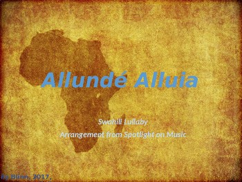 Allunde Alluia (Spotlight on Music Version) Sing-Along