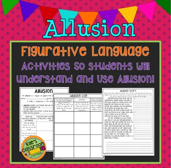 Allusion Figurative Language Interactive / Guided Notes and Writing Activity