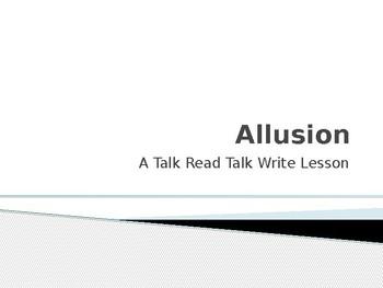 Allusion/ A TRTW Lesson