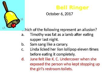 Allusion Bellringers