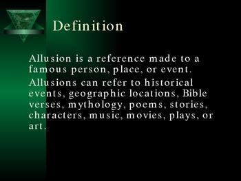 Allusion Mini-Lesson