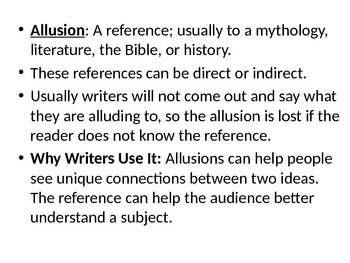 Allusion Notes