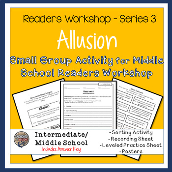 Allusion Sort, Worksheets, and Poster - Center or Readers Workshop