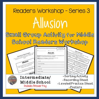 Allusion Sort, Worksheets, and Poster - Center or Readers Workshop