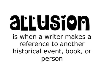 Allusion Word Wall Sign