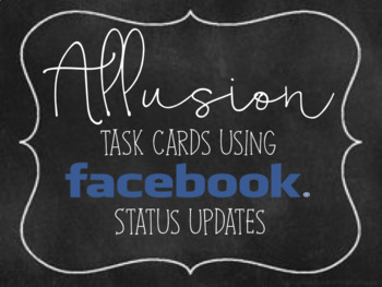 Allusion task cards