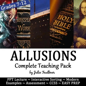 Allusions Lesson, Complete Teaching Pack, Any Text