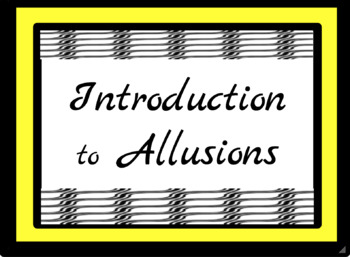 Allusion PowerPoint and Notetaking Guide