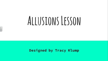 Allusions PowerPoint Lesson; Smartboard / Whiteboard Lesso