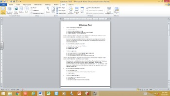 Allusions Test - See my Allusions PowerPoint Lesson, 17 Slides, sold separately