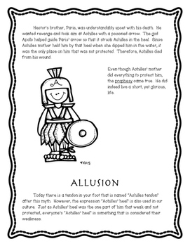 Allusions from Greek Mythology - Achille's Heel FREEBIE