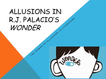 Allusions in R.J. Palacio's Wonder