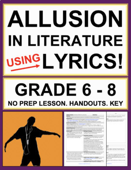Allusions in Song Lyrics: No Prep Activities, Lesson Plan & Answer Key