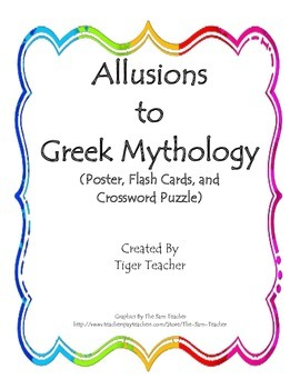 Allusions to Greek Mythology, Common Core Aligned!