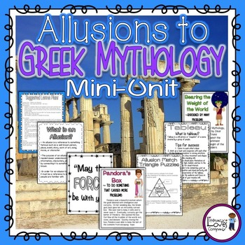 Allusions to Greek Mythology {CCSS RL.4.4}