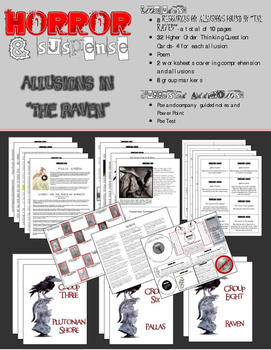 """Allusions in """"The Raven""""  - Common Core Aligned Group Activity"""